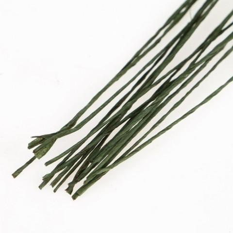 Флористическая проволока Зелёная/Белая  (набор 20 шт) 0,3 мм