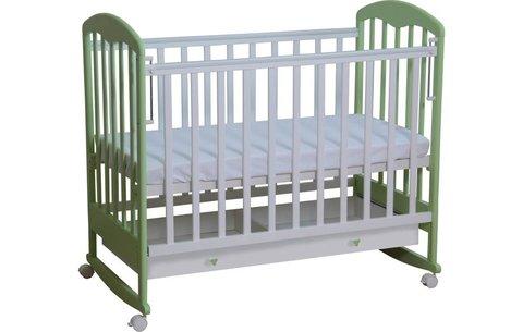 Кровать детская Фея 325 белый-мята