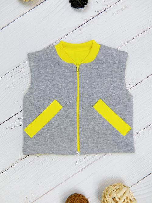 Жилет 3141, серо-желтый