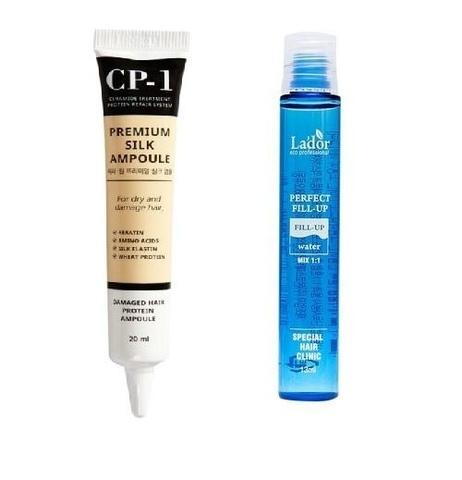 Набор сыворотка для волос с протеинами шелка Premium Silk Ampoule+филлер для восстановления волос Pe