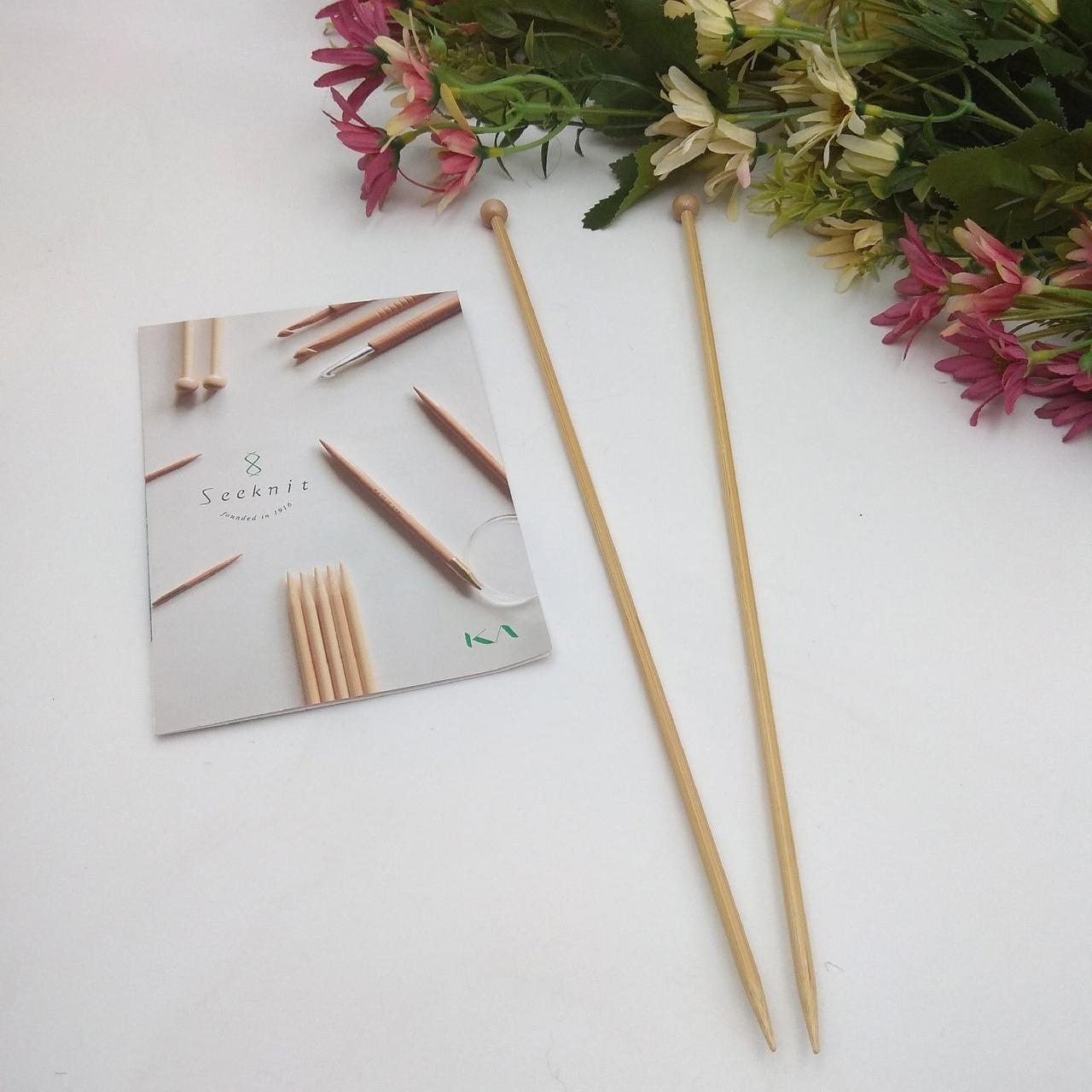 Прямые бамбуковые спицы Seeknit 30см