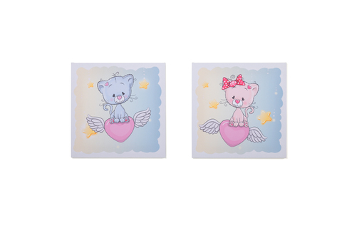 Набор картин на холсте в детскую комнату - 2 шт