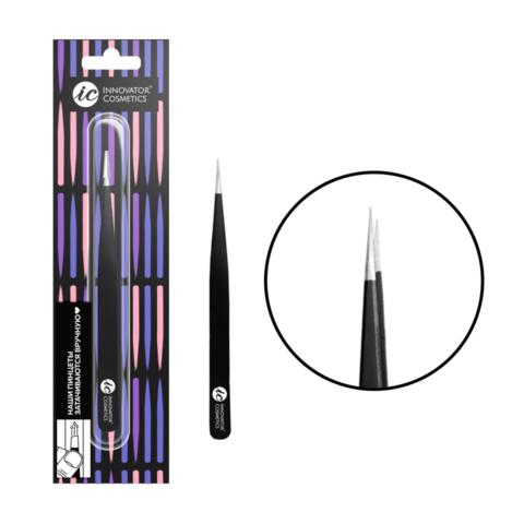 Innovator cosmetics Пинцет для ресниц ручной заточки прямой 1-SA