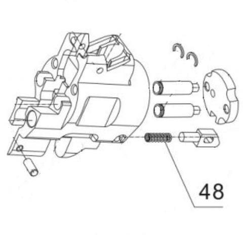 Пружина упора для монтажного пистолета ПЦ-84, GFT-5 (48)