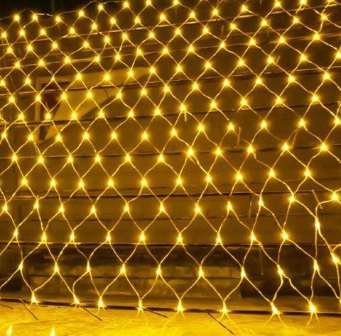 Гирлянда сетка LED Размер 200*200 Жёлтая