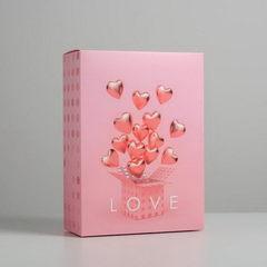 Коробка складная «С любовью», 22 × 30 × 10 см, 1 шт.