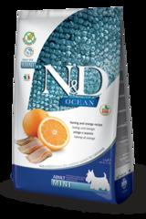 Корм для собак мелких пород, Farmina N&D Fish & Orange Adult Mini, с рыбой и апельсином