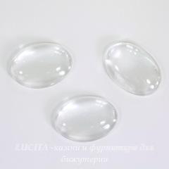 Кабошон овальный прозрачное стекло, 25х18 мм
