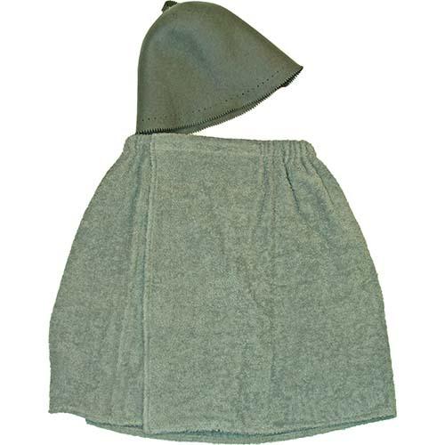 Комплект для бани мужской (килт, колпак)