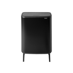 Мусорный бак Touch Bin Bo Hi (2 х 30 л), Черный матовый
