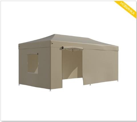 Тент-шатер быстросборный Helex 3x6х3м полиэстер бежевый