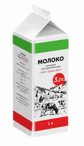 Молоко Вологжанка 3.2% п/п (Пастер) ИП