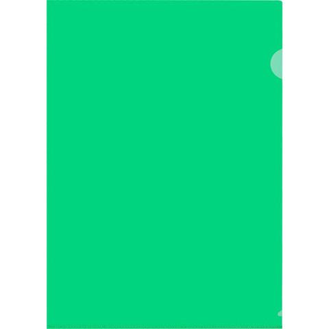 Папка-уголок A4 зеленая 120 мкм (20 штук в упаковке)