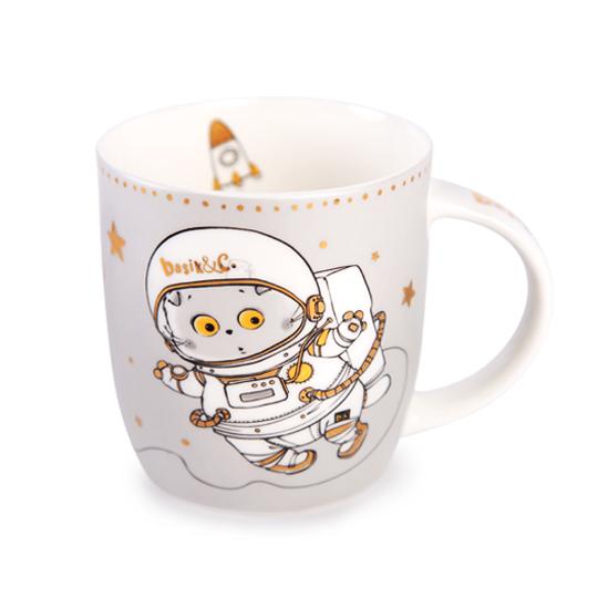 Кружка кот Басик Космонавт