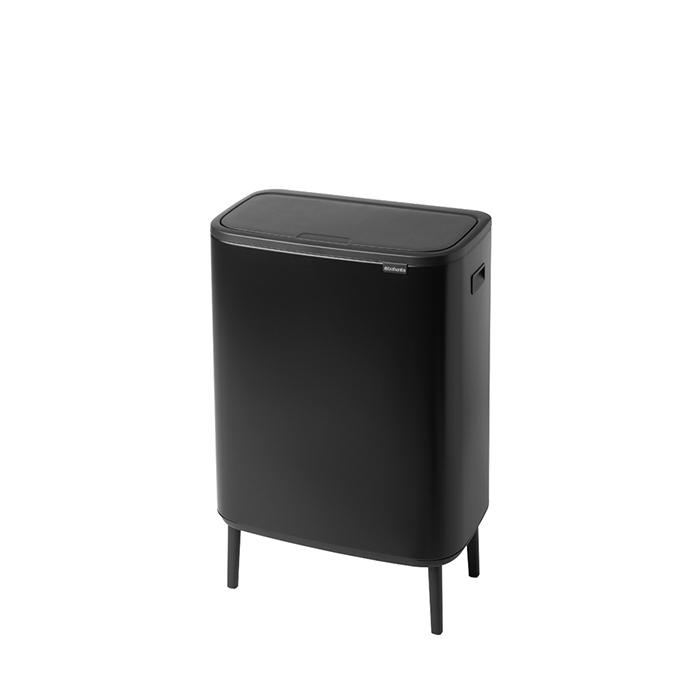 Мусорный бак Touch Bin Bo Hi (2 х 30 л), Черный матовый, арт. 130625 - фото 1