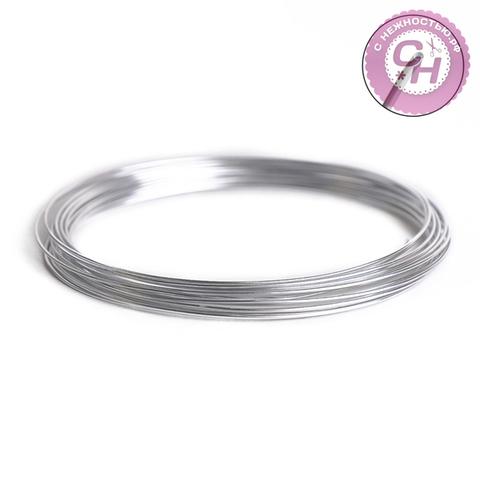 Проволока для плетения  металлическая, 0,9 мм, 5 м.