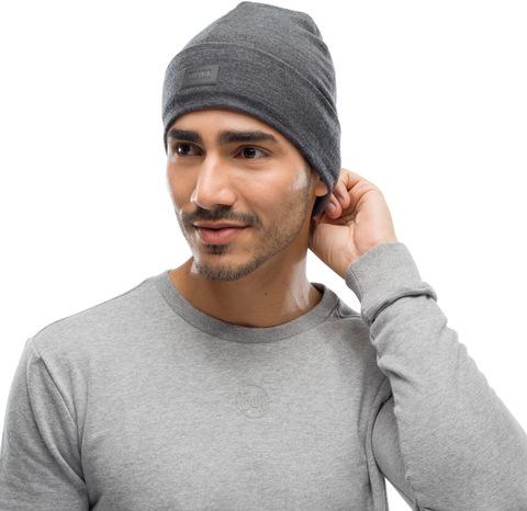 Шерстяная шапка с флисом Buff Hat Wool Fleece Graphite фото 2