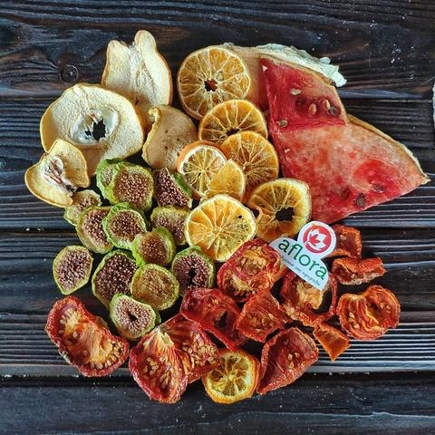 Фотография Чипсы микс /айва, инжир, апельсин, томат, арбуз/ 300 г купить в магазине Афлора