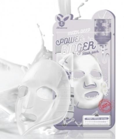 Elizavecca Тканевая маска для лица МОЛОКО Elizavecca Milk Deep Power Ringer Mask Pack,23 мл.