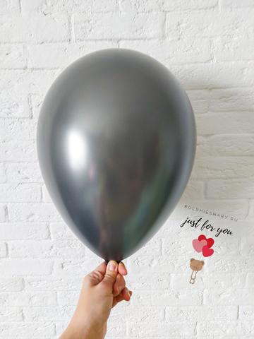 Воздушный шар черный металлик