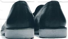 Мягкие туфли лоферы черные мужские Luciano Bellini 91178-E-212 Black.