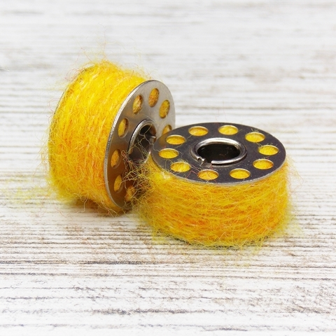 Мохер на шпуле Yellow/Orange
