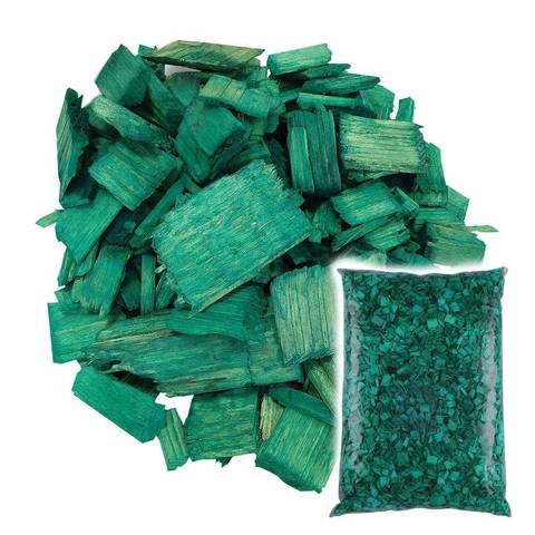 Декоративная щепа Зеленая 60л