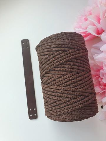 Ручка для корзины 20 см цвет Шоколад