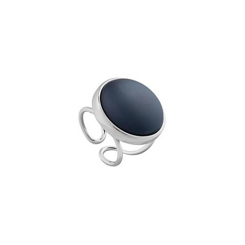Кольцо Pearl Black Agate 16.5 мм K0948.4 BW/S