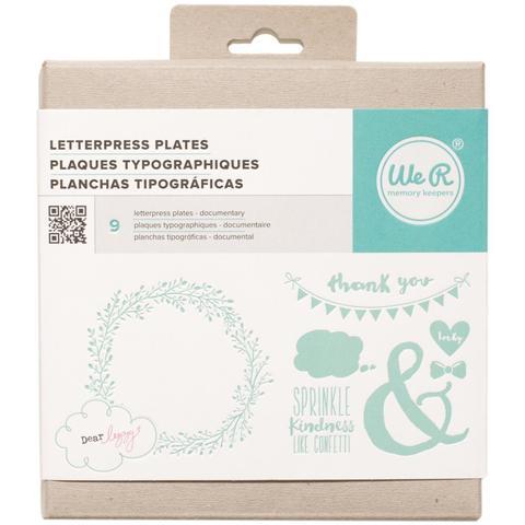 Формы для леттерпрессинга Lifestyle Letterpress Plates -  Dear Lizzy Documentary