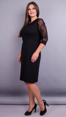 Ля Руж. Стильне жіноче плаття великих розмірів. Чорний.