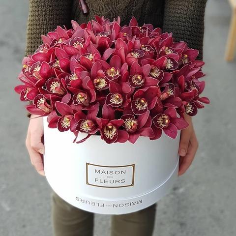 Коробка с орхидеей стиль 1