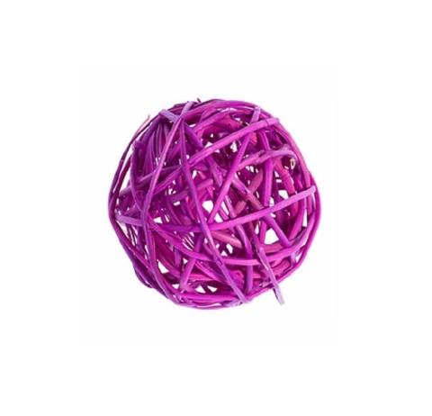 Плетеные шары из ротанга (набор:6 шт., d8см, цвет: сиреневый)