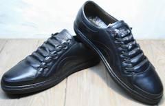 Кеды кроссовки без шнурков и липучек мужские на осень Novelty 5235 Black