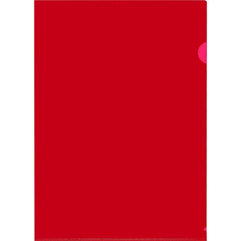 Папка-уголок A4 красная 120 мкм (20 штук в упаковке)