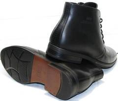 Мужские зимние ботинки на натуральном меху Ikoc 3640-1 Black Leather.