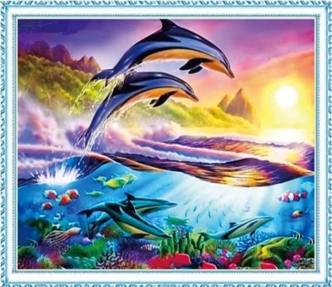 Алмазная Мозаика 40x50 Богатый подводный мир (арт. MGL8056 )