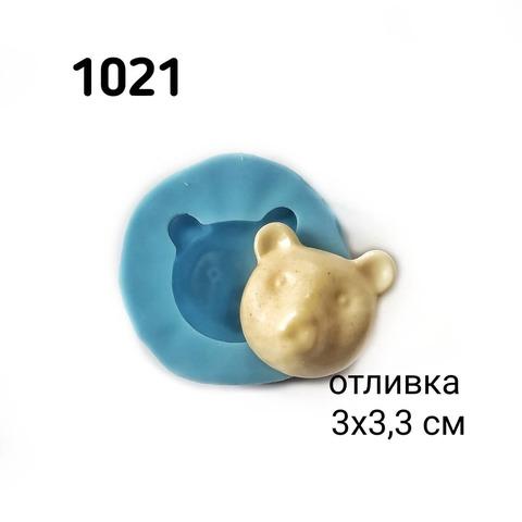 1021 Молд силиконовый. Голова медведя.