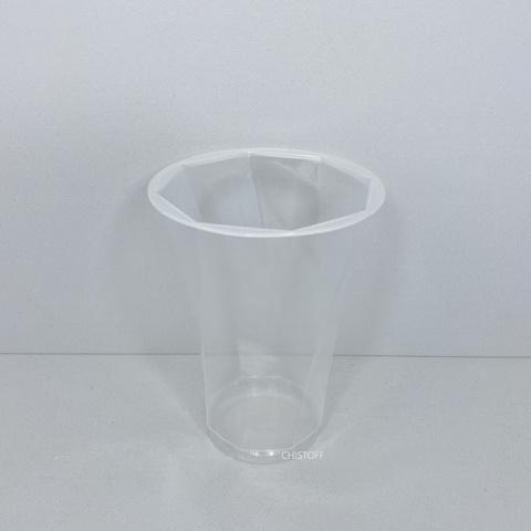 95122 РР / 1000 Стакан одноразовий (з 8-ю гранями) 400 мл (50 шт.)
