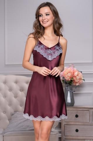 Сорочка из шелка Mia Amore Burgundia 3290(70% шелк)