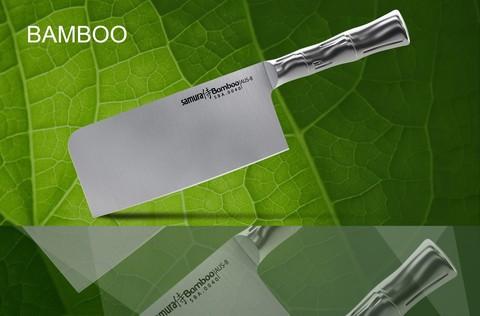 SBA-0040 Топорик кухонный стальной SAMURA BAMBOO