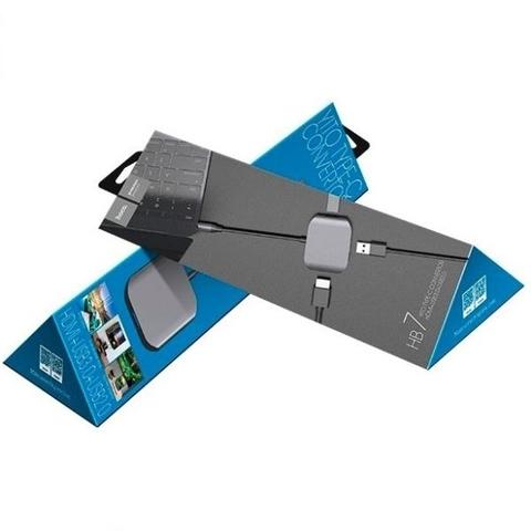 Купить переходник Hoco HB7 Type-C на HDMI и USB