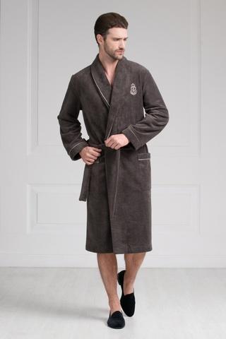 Мужской бамбуковый халат 11007-6 Laete