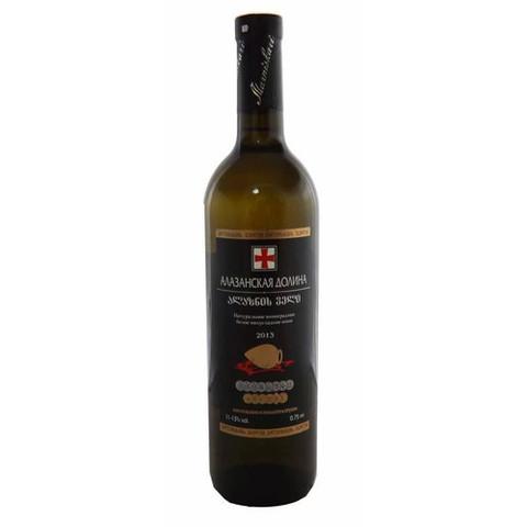 Вино стол.Алазанская долина бел. п/сл. 13*(Милдиани) Алкомаркет 0,75л