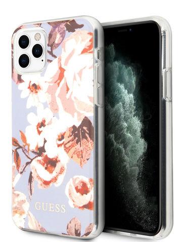 Guess / чехол для iPhone 11 Pro Max | Flower TPU/PC Hard Shiny N.2 Lilac