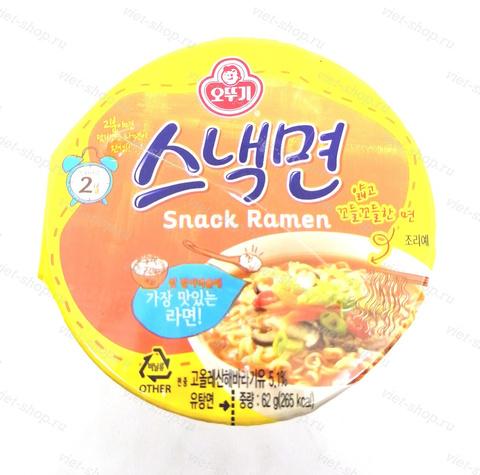 Корейская пшеничная лапша со вкусом говядины, Оттоги (Ottogi), 62 гр.