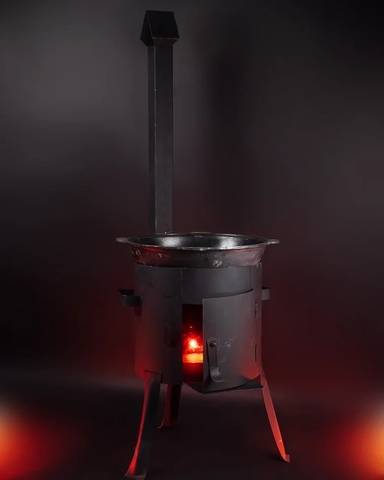 Печка с трубой для казана 8 л