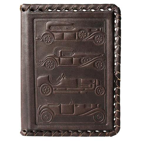 Обложка для автодокументов «Фаэтон». Цвет коричневый