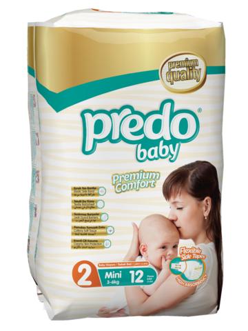 Predo. Подгузники Baby Стандартная пачка № 2 (3-6 кг Mini), 12 шт. вид 1