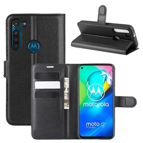 Чехол книжка для Motorola G8 Power, с отсеком для карт и подставкой от Caseport